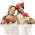 Bride and groom are standing together that shows Matrimonial