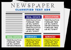 Newspaper Classified text ad