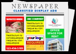 Newspaper Classified Display ad